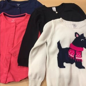 LOT OF 4 sz 4T CARTER'S SWEATERS AND TOPS so nice